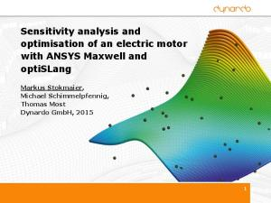 0930 Sensitivity Analysis and Optimisation of an Electric Motor with ...