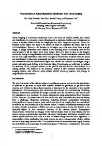 1 Determination of Actual Object Size Distribution from ...