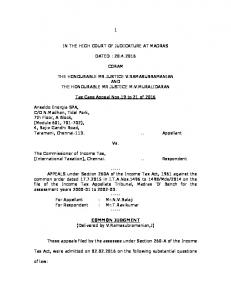 1 in the high court of judicature at madras dated -