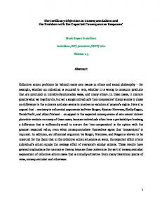 1 The Inefficacy Objection to Consequentialism and the Problem with ...
