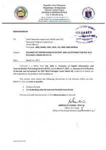 17-03-064. ISSUANCE OF CERTIFICATION OF RECEIPT AND ...