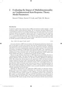 2 Evaluating the Impact of Multidimensionality on ... -