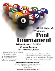 2014 Pool Tournament Flyer.indd