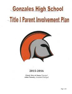 2015-16 GHS Parent Involvement Plan - Approved 11-10-15 ...