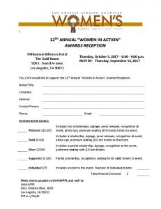 2017 LAAAWPPI 12th Annual WIA 12th Sponsor Reservation Form ...