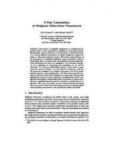 3-Way Composition of Weighted Finite-State Transducers
