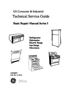 31-9161 GWS0907 GE Consumer & Industrial Technical Service ...
