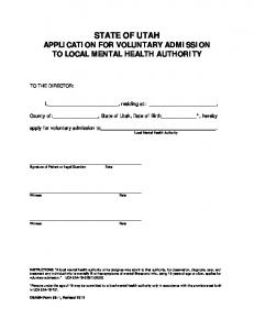 35-1 Application for Voluntary Admission to Local Mental Health ...