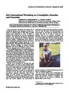 3rd International workshop on crocodylian ... - Wiley Online Library