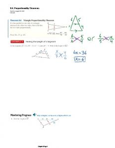 8.4: Proportionality Theorems