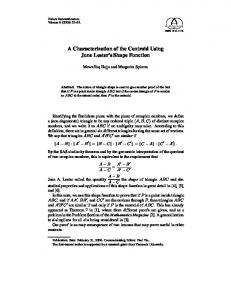 A Characterization of the Centroid Using June Lester's ...