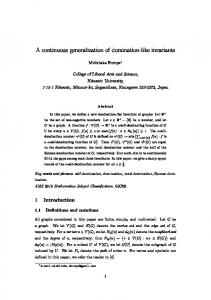 A continuous generalization of domination-like invariants