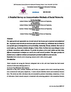 A Detailed Survey on Anonymization Methods of Social Networks