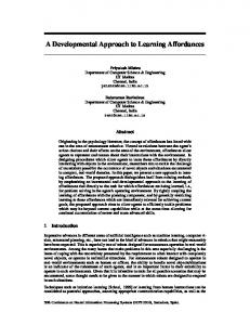 A Developmental Approach to Learning Affordances