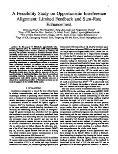 A Feasibility Study on Opportunistic Interference Alignment: Limited ...