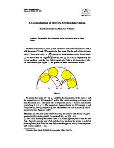 A Generalization of Power's Archimedean Circles