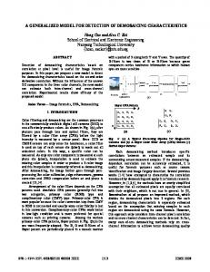 a generalized model for detection of demosaicing ... - IEEE Xplore