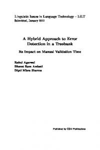 A Hybrid Approach to Error Detection in a Treebank - Semantic Scholar
