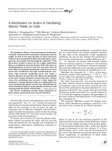 A Mechanism for Action of Oscillating Electric Fields on Cells