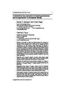 A method for the evaluation of meaning structures and its application ...