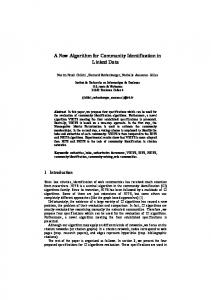 A new Algorithm for Community Identification in Linked ...