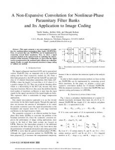 A Non-Expansive Convolution for Nonlinear-Phase ...