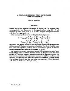 A PLANAR DIFFUSION WITH RANK-BASED ...