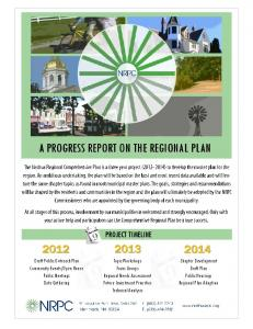 a progress report on the regional plan - Nashua Regional Planning ...