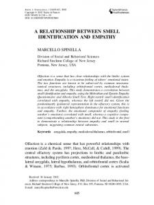 A RELATIONSHIP BETWEEN SMELL IDENTIFICATION AND EMPATHY
