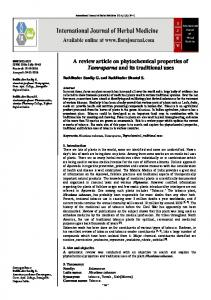 A review article on phytochemical properties of Tamraparna and its ...