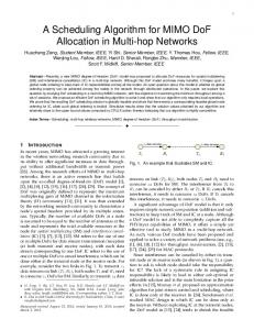 A Scheduling Algorithm for MIMO DoF Allocation in ... - ECE Louisville
