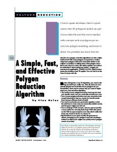 A Simple, Fast, and Effective Polygon Reduction Algorithm - Stan Melax