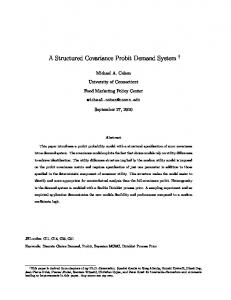 A Structured Covariance Probit Demand System