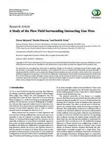 A Study of the Flow Field Surrounding Interacting Line Fires
