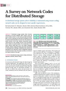 A Survey on Network Codes for Distributed Storage - IEEE Xplore