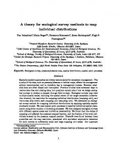 A theory for ecological survey methods to map ...