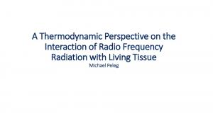 A Thermodynamic Perspective on the Interaction of ...