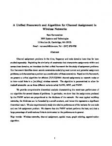 A Unified Framework and Algorithm for Channel ... - Semantic Scholar