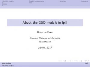 About the GSO-module in fplll - GitHub