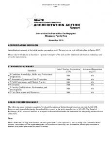 Action Report - Uprm