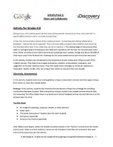 Activity for Grades 6-8