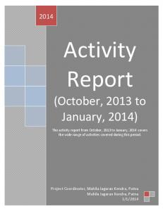 Activity report (October, 2013-January, 2014).pdf