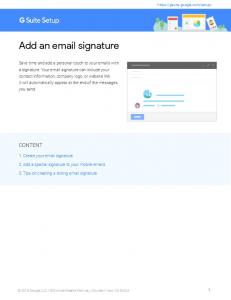 Add an email signature - G Suite