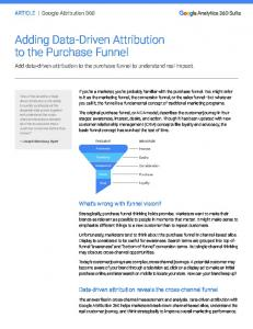 Adding Data-Driven Attribution to the Purchase ...  Services