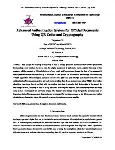 Advanced Authentication System for Official Documents Using QR ...