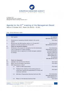Agenda for the 97th meeting of the Management Board - European ...