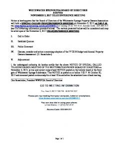 agenda-wws-poa-special-called-teleconference-meeting-n0vember-2 ...