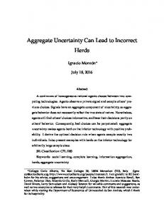 Aggregate Uncertainty Can Lead to Incorrect Herds