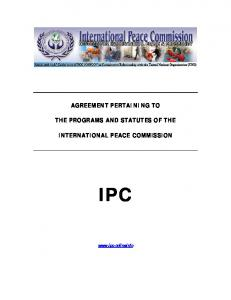 agreement pertaining to the programs and statutes of the international ...