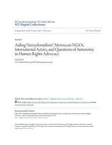 Aiding Neocolonialism? Moroccan NGOs ... - SIT Digital Collections